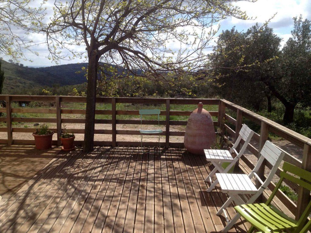 Terrasse privative en bois