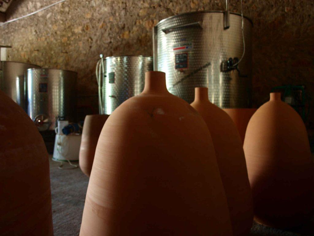 Amphore en terre cuite pour le vin